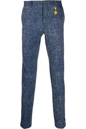 Manuel Ritz Charm-detail cotton tailored trousers
