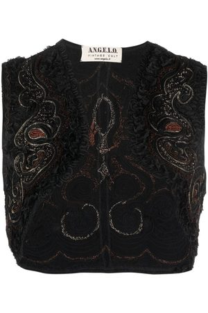 A.N.G.E.L.O. Vintage Cult 1990s embroidered sleeveless bolero