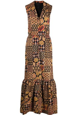 A.N.G.E.L.O. Vintage Cult Women Printed Dresses - 1960s paisley-print maxi dress