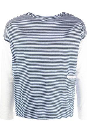 MA'RY'YA Striped round neck jumper