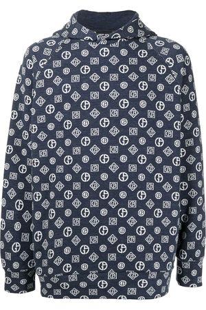 Armani Men Sweatshirts - Monogram denim hoodie
