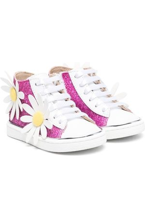 Florens Girls Sneakers - Floral appliqué hi-top sneakers