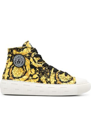 VERSACE Barocco-print high-top sneakers