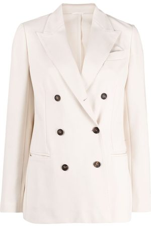 Brunello Cucinelli Women Coats - Double-breasted peacoat