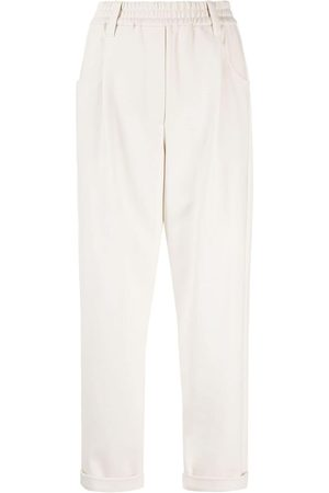 Brunello Cucinelli Women Pants - Cropped straight-leg trousers