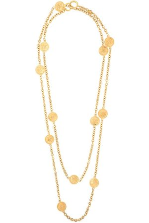 CHANEL CC medallions double-chain necklace