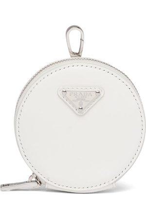Prada Women Wallets - Logo-plaque round pouch
