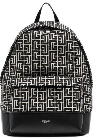 Balmain Men Rucksacks - City monogram-woven backpack