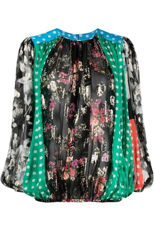 Dolce & Gabbana Women Blouses - Patchwork ruched blouse