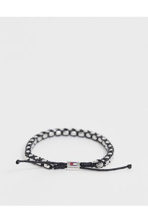 Tommy Hilfiger Woven bracelet in silver and
