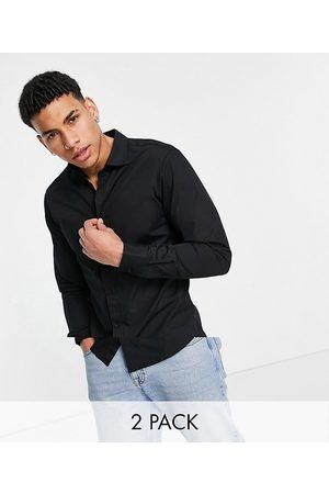 JACK & JONES Essentials 2 pack smart shirt in slim fit