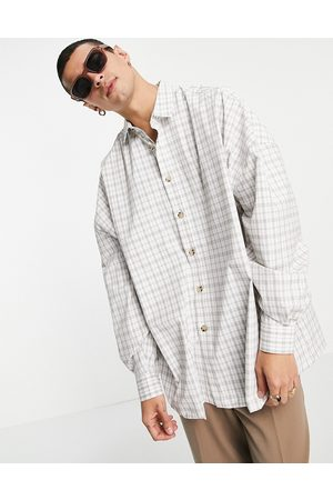 ASOS Extreme oversized shirt in check