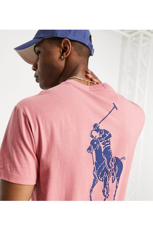 Polo Ralph Lauren X ASOS exclusive collab t-shirt in with backprint pony logo
