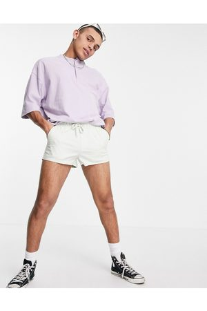 ASOS Skinny chino shorter shorts with elasticated waist in pastel