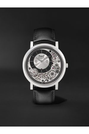 PIAGET Altiplano Ultimate Automatic 41mm 18-Karat White Gold and Leather Watch, Ref. No. G0B43121