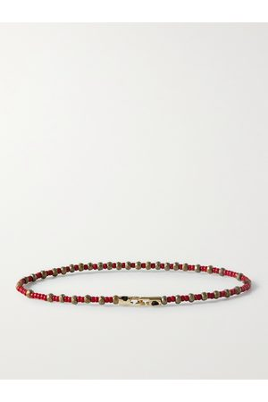 LUIS MORAIS Bead and 14-Karat Gold Bracelet