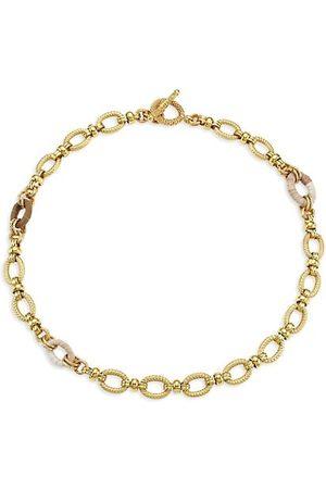 Gas Bijoux Necklaces - Escale 24K Goldplated & Raffia Link Necklace