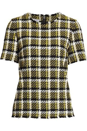 AKRIS Tweed Fringe Top
