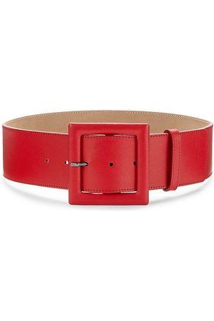 Carolina Herrera Belts - Square Buckle Leather Belt