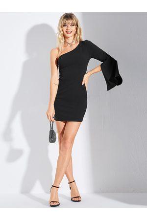 YOINS Slit Design One Shoulder Dress