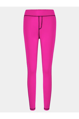 YOINS Stitching Design Bodycon fit Elastic Trousers in Rose