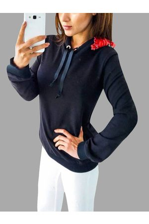 YOINS Hooded Design Embroidered Long Sleeves Hoodie