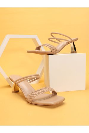 YOINS Casual Square Toe Braid One Word Sandals