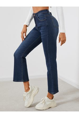 YOINS Side Pockets Micro-flared Middle Waisted Jeans