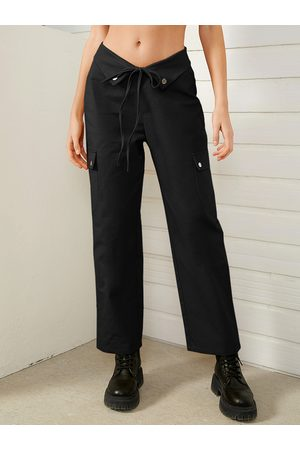 YOINS Women Cargo Pants - Tie-up design Low Waisted Cargo Pants