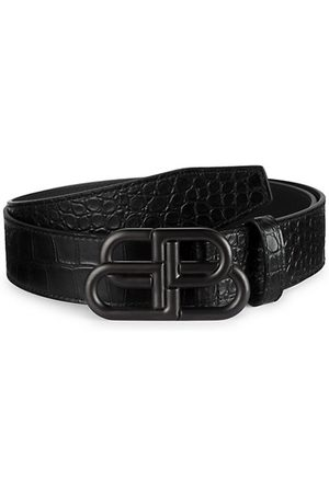 Balenciaga Large BB Leather Belt