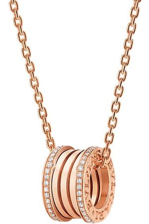 Bvlgari Necklaces - B.zero1 18K Rose & Diamond Pendant Necklace