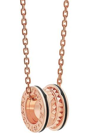 Bvlgari Necklaces - B.zero1 Rock 18K Rose & Black Ceramic Pendant Necklace