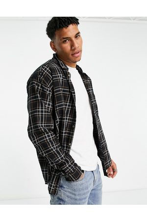 ASOS 90s oversized check shirt in and white cotton