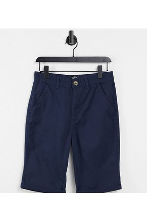 Le Breve Tall chino short in navy