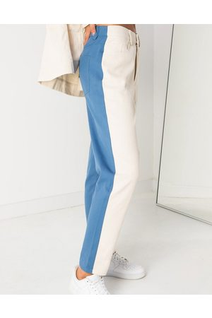 Daisy Street Mom jeans in colour block denim co-ord
