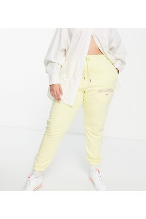 COLLUSION Plus exclusive varsity print skinny jogger in