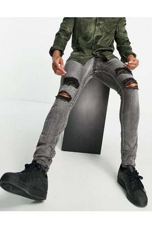 Sixth June Relaxed distressed jeans in washed