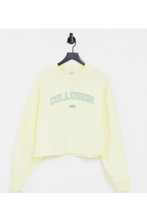 COLLUSION Plus varsity print sweatshirt co-ord in