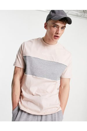 ASOS Organic t-shirt with text print in and grey