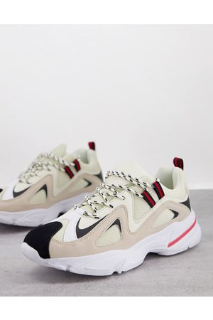 Brave Soul Chunky runner trainers in multi colour