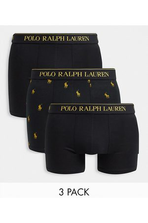 Polo Ralph Lauren X ASOS exclusive collab 3 pack trunks in /gold with all over pony logo