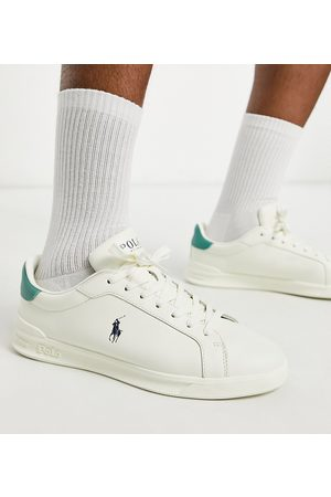 Polo Ralph Lauren X ASOS exclusive collab trainers in cream with pony logo