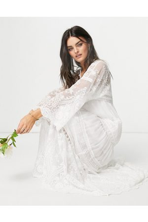 Y.A.S Bridal maxi dress in boho lace in