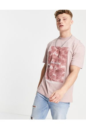 River Island Men Short Sleeve - T-shirt with print in