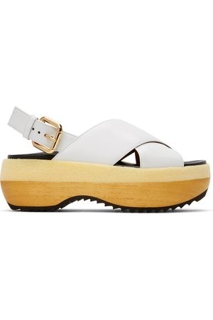 Marni Wooden Sole Wedge Sandals