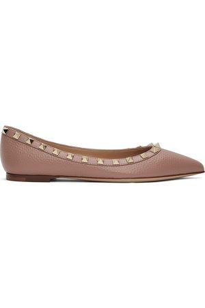 Valentino Garavani Pink Rockstud Ballerina Flats
