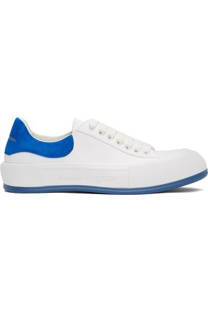 Alexander McQueen White & Blue Deck Plimsoll Sneakers