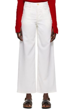 Marni White Five-Pocket Trousers