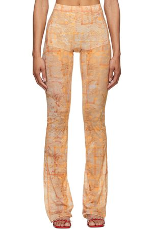 Women Leggings - Charlotte Knowles Beige Halcyon Leggings