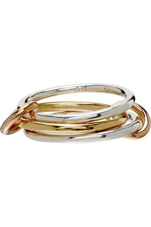 Women Rings - Spinelli Kilcollin Gold & Solarium Three-Link Ring